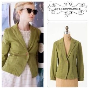 Anthropologie Cartonnier Kittery  Blazer Sz 0